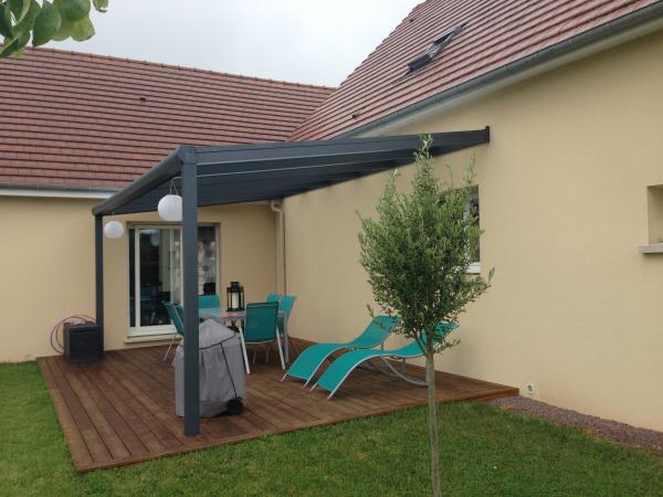 Pergola oasis de verre caen et calvados logikinov - Couvrir un toit terrasse ...