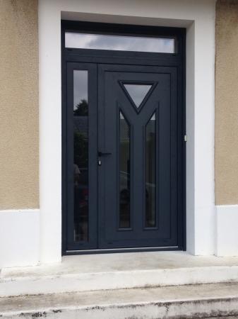 Porte Dentrée Logikinov Fenêtres Portes Et Pergolas à Caen - Double porte d entrée