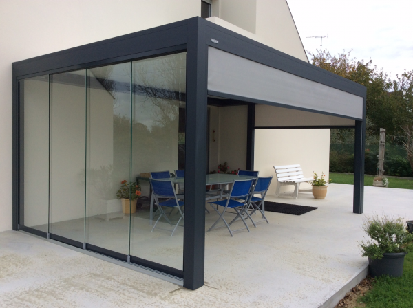 B400 for Pergola bioclimatique corse