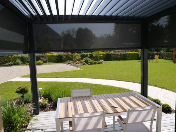pergola bioclimatique lames orientables logikinov. Black Bedroom Furniture Sets. Home Design Ideas